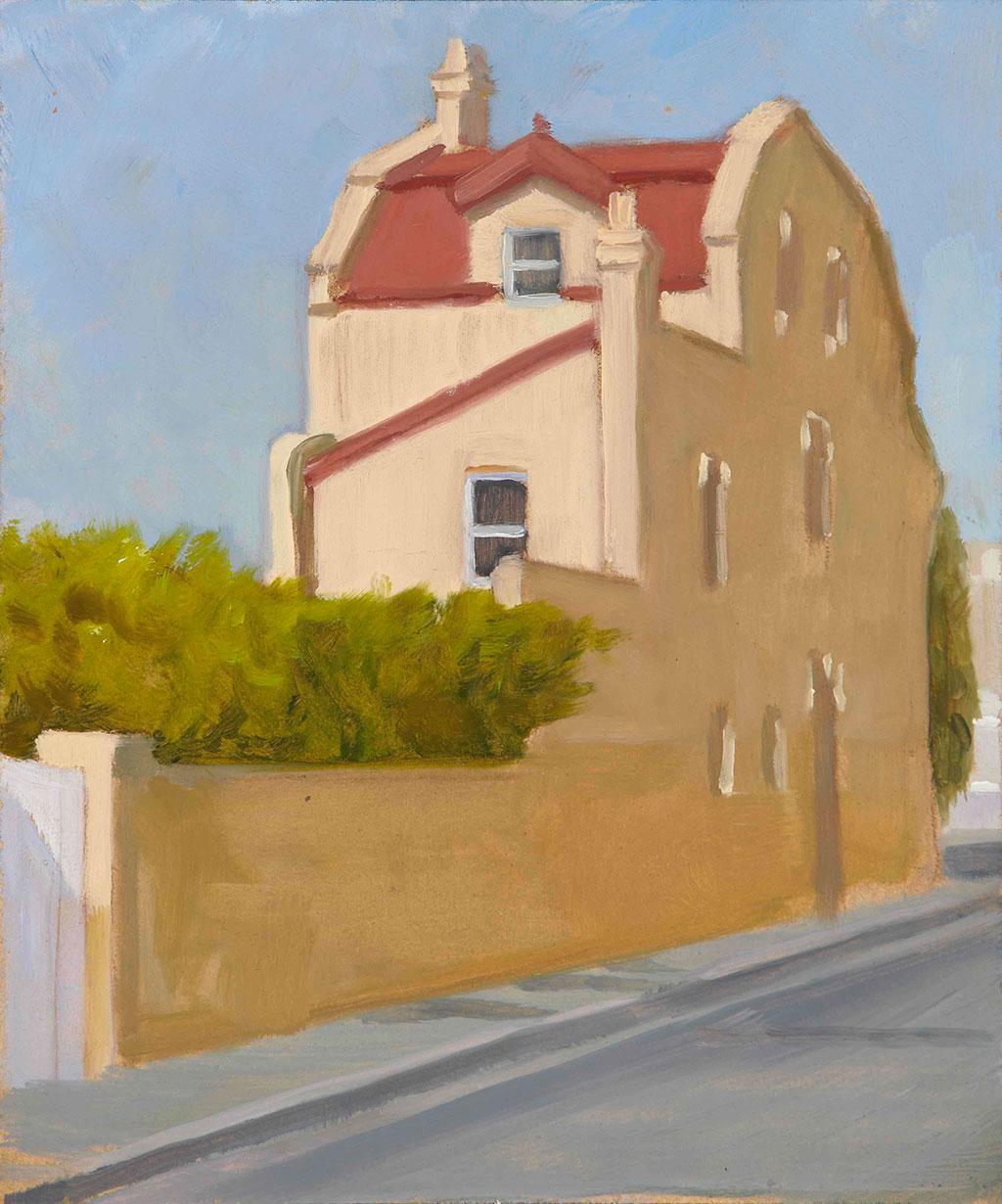 Corner-House-Bondi-30x20cm-oil_timber-2013