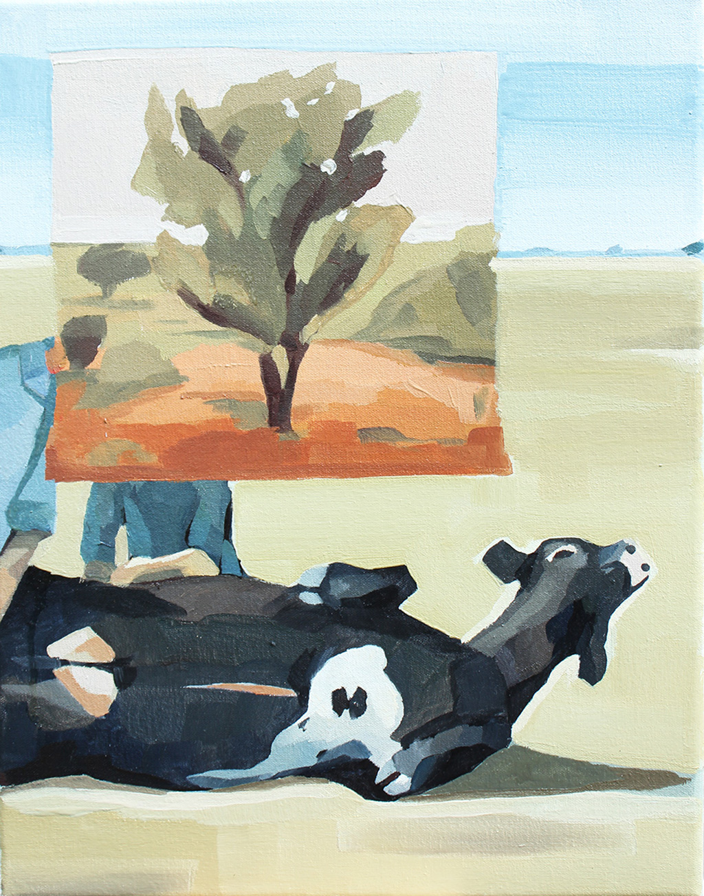 Overlanding,-Oil-on-Canvas.-35-x-45-cm-