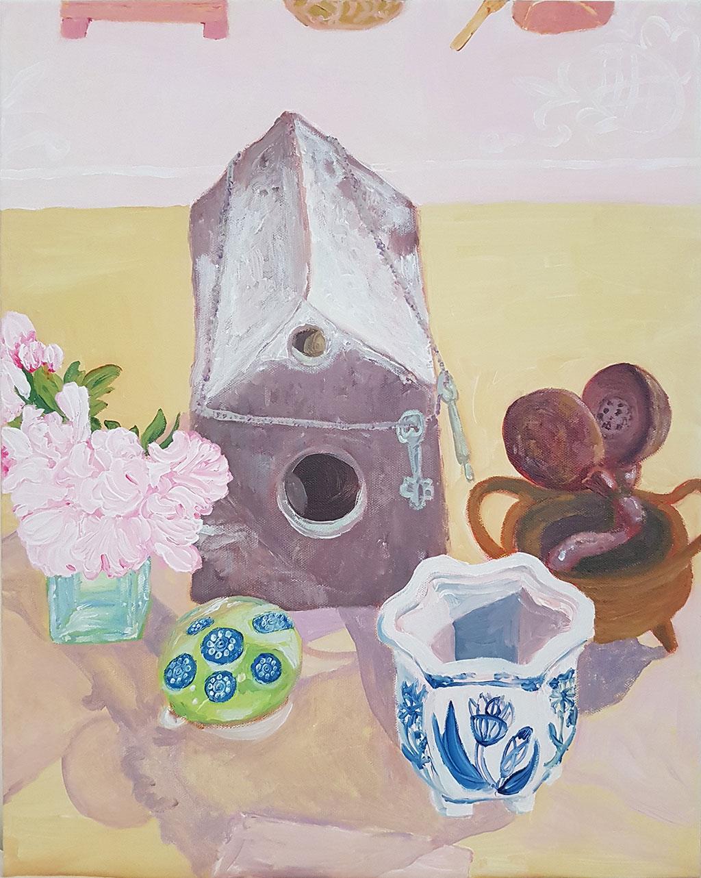 12.-Judi's-Clay-Bird-House-40.7-x-50.9cm-$815