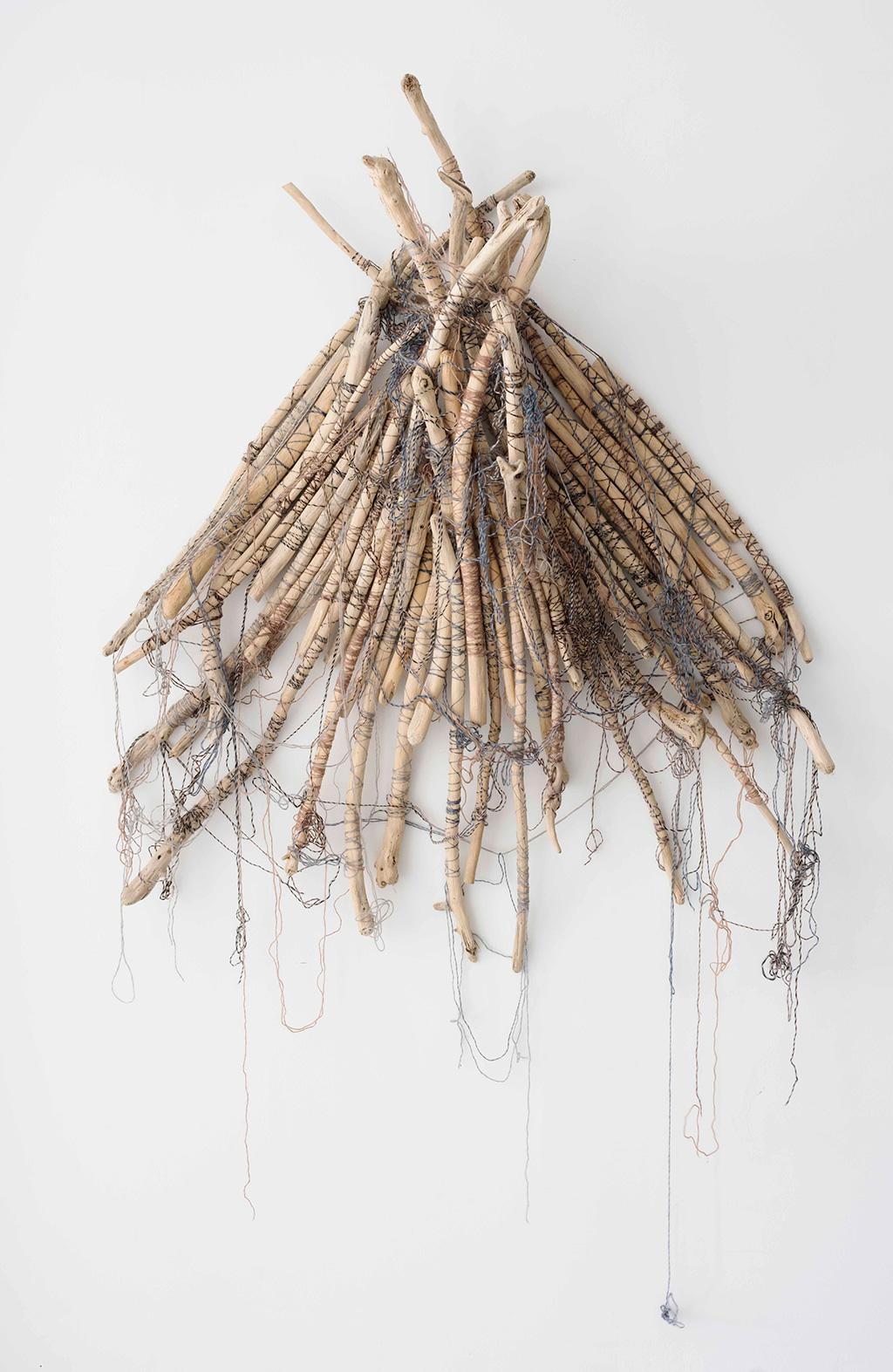 Bluebottle,-driftwood-cotton-fibre,-130x110x20cm,-$6800
