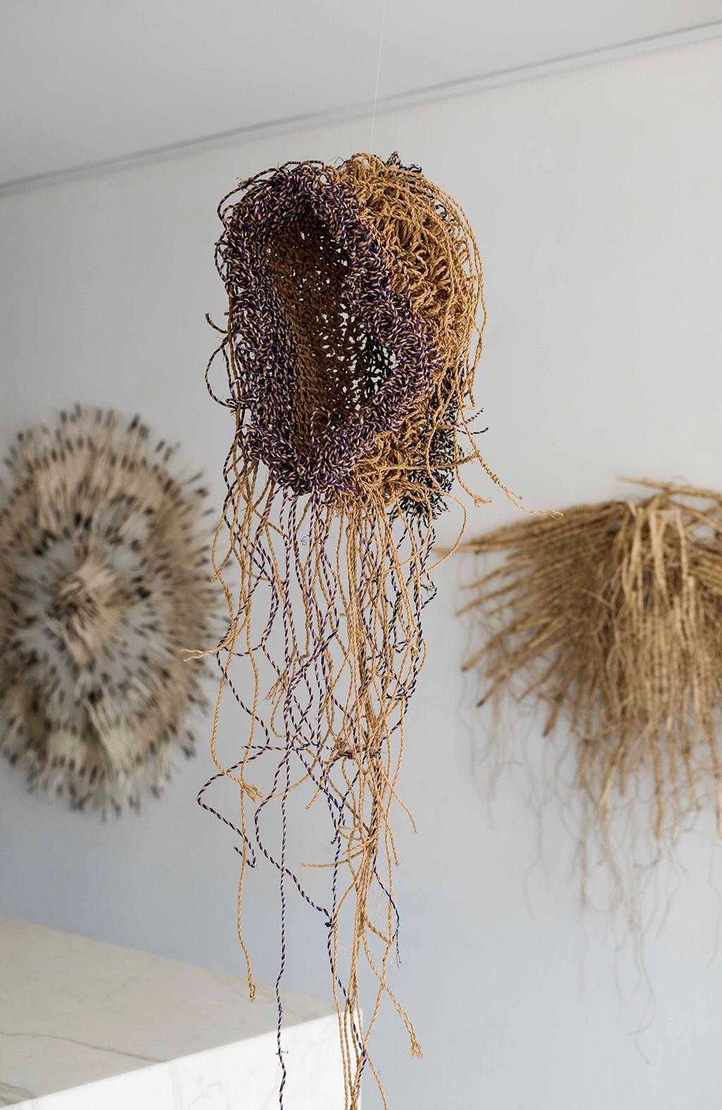 Lionfish,-Raffia,-wire,-185x25x20cm-Basket-Depth-38cm,-$5800