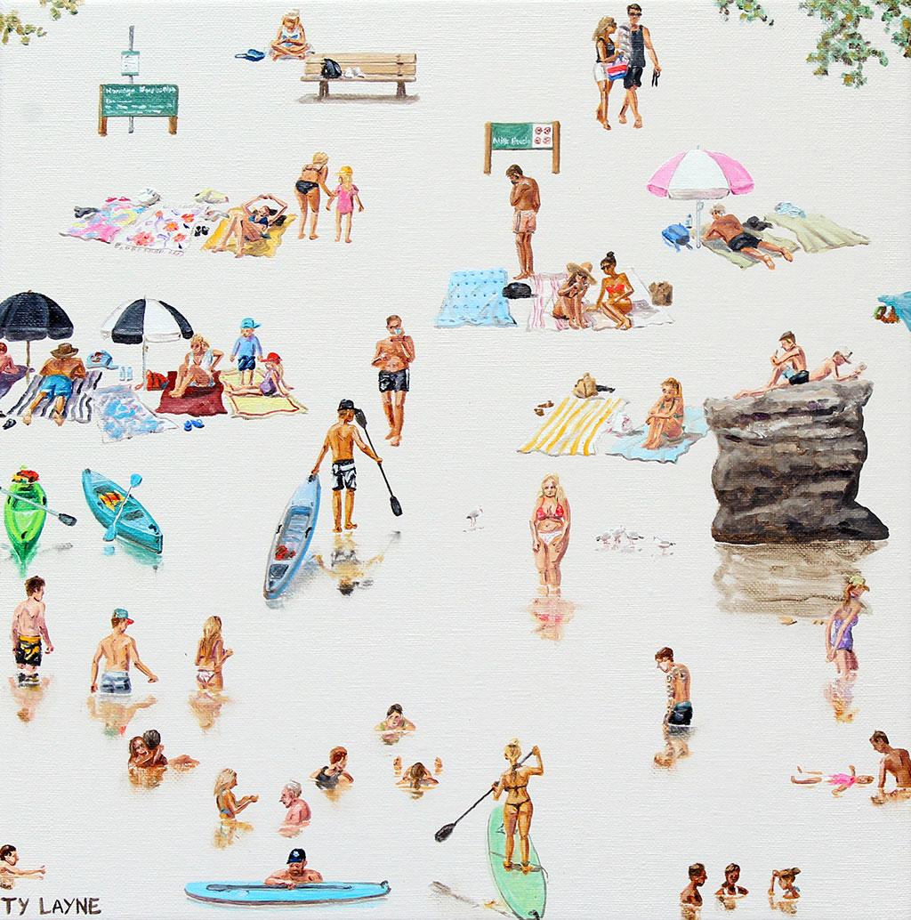 Milk-Beach,-Oil-_-acrylic-on-linen.-30.5cm-x-30.5cm-(2017)-$650