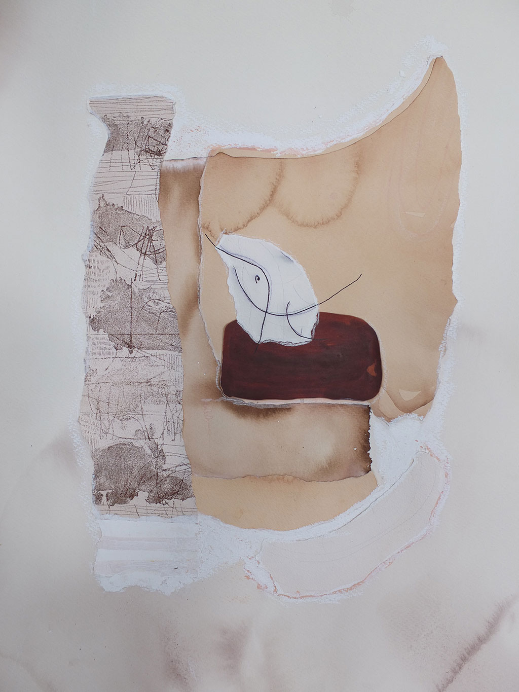 No-more,-all-gone-(dried-up),-2017,-collage-(water-colour,-gouache,-pen,-pencil,-crayon,-oil-stick-and-etching)-on-paper.--56cm-x-76cm-(unframed)
