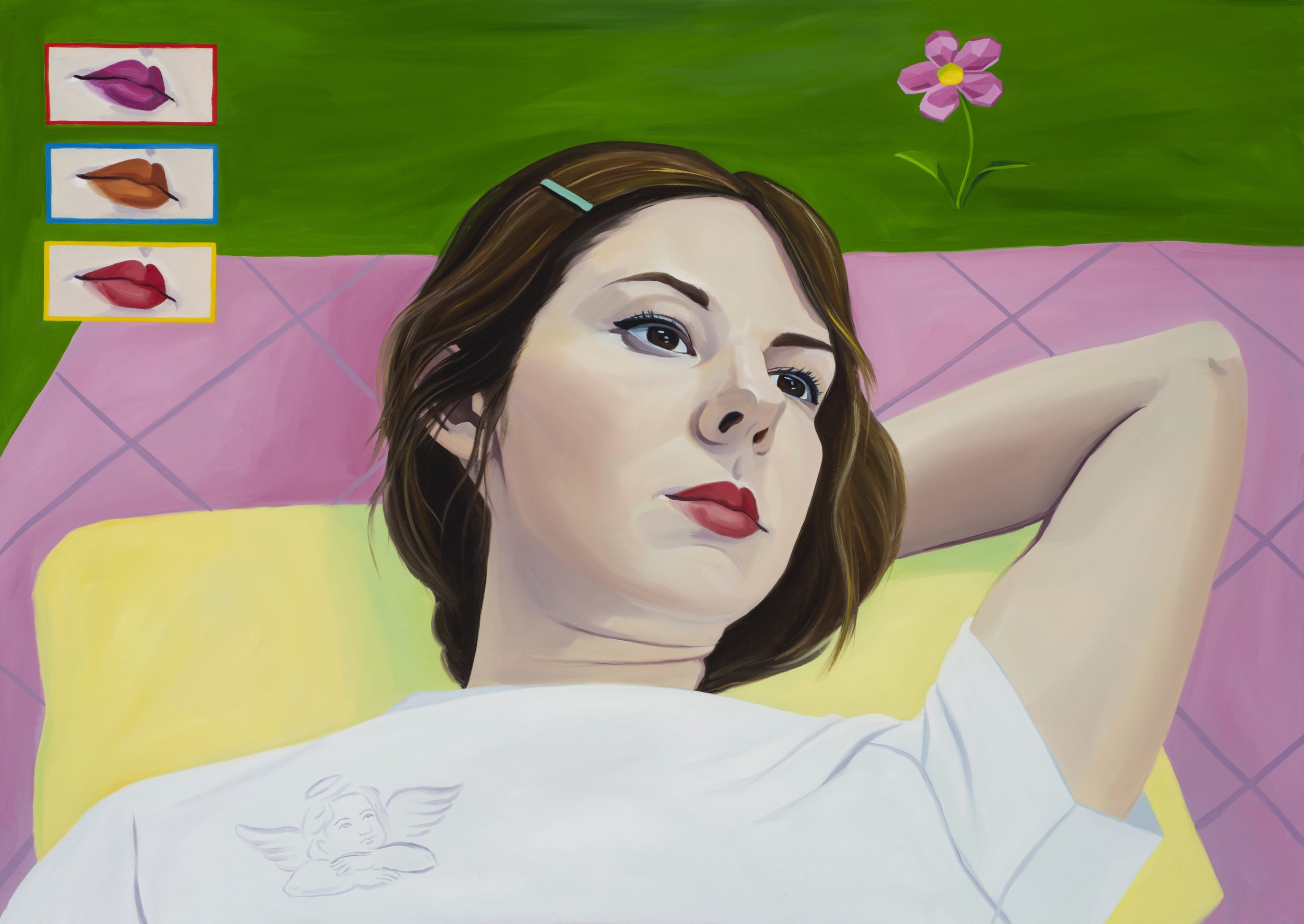 Bridgette McNab, All I need in this life of sin, 120 x 85, oil on poly cotton copy
