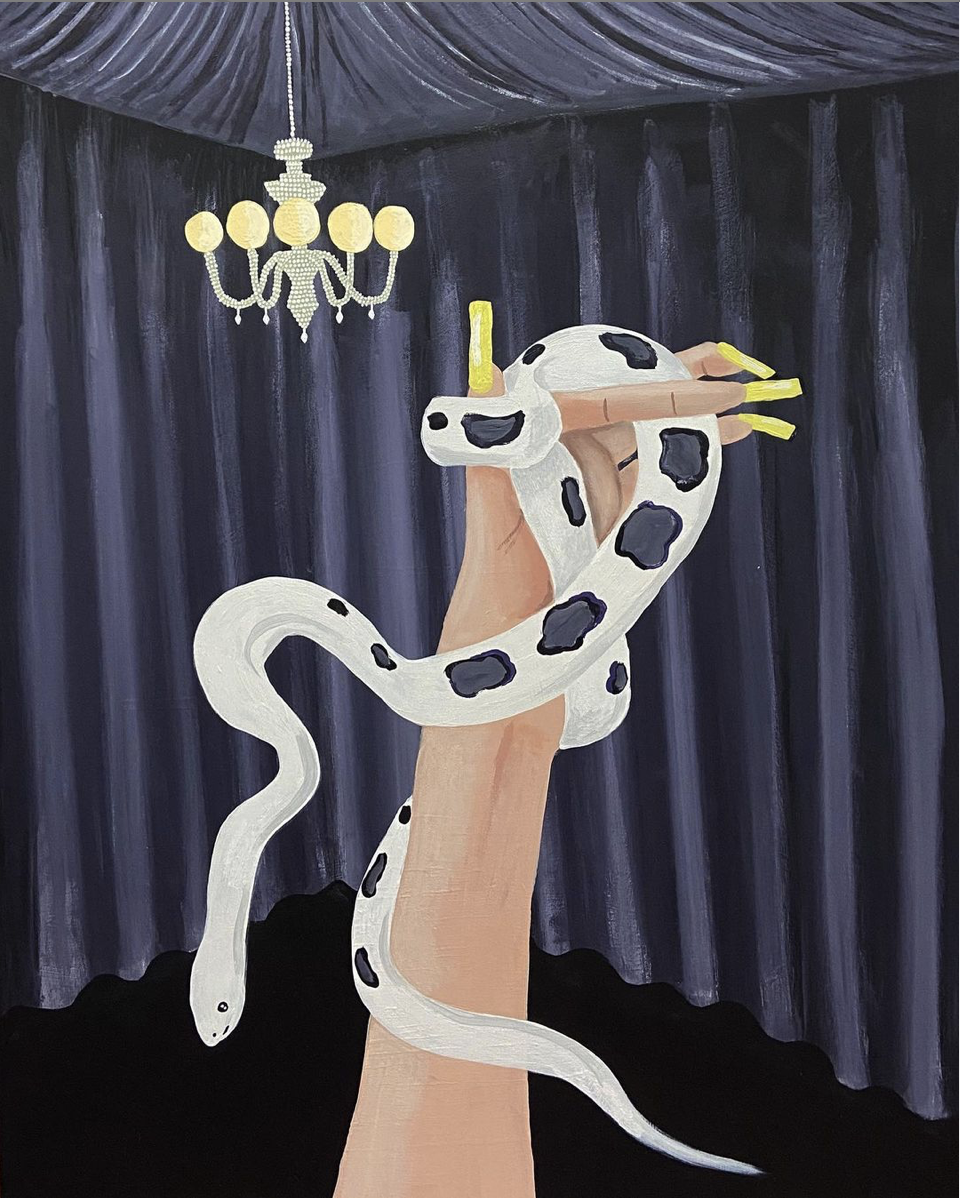 You can't rip the skin off a snake_80x100cm_Luciana Smith